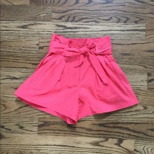 Pants - High waisted bow tie shorts